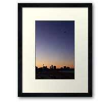 Sunset over North Ave Beach Chicago, IL Framed Print