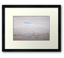 Land, sea, fog Framed Print