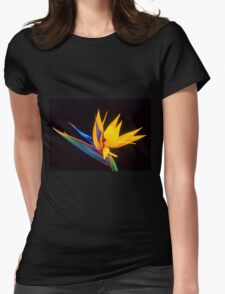 Strelitzia Isolated On Black Background T-Shirt