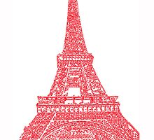 Red Paris Sketch - iPhone Case by ddfoto