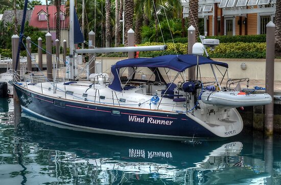 Boat docked at Marina Village in Paradise Island, The Bahamas by 242Digital