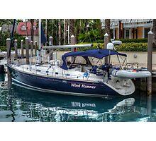 Boat docked at Marina Village in Paradise Island, The Bahamas Photographic Print