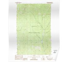 USGS Topo Map Washington State WA Frosty Meadow 241237 1989 24000 Poster