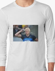 Boris competes in Olympic javelin Long Sleeve T-Shirt