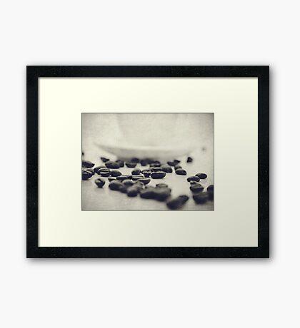 Spilt Beans Framed Print