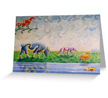 Pictish animal art Greeting Card