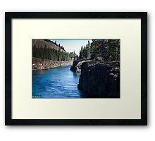 Miles Canyon Framed Print