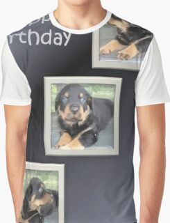 Rottweiler Collage Birthday Greeting Graphic T-Shirt