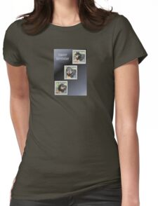Rottweiler Collage Birthday Greeting Womens Fitted T-Shirt