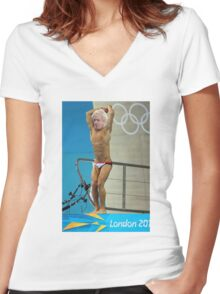 Boris does a Daley Women's Fitted V-Neck T-Shirt