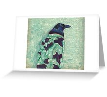 Corvid Kimono Greeting Card