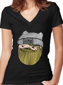 Adventure Time - Finn The Human Women's Fitted V-Neck T-Shirt
