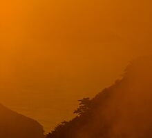 Orange sunset, Hongpo, South Korea by Gabor Pozsgai