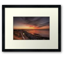 Reculver Sunset Framed Print