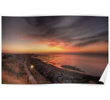 Reculver Sunset Poster