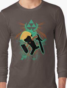 Super Smash Bros. Teal Toon Link Silhouette Long Sleeve T-Shirt