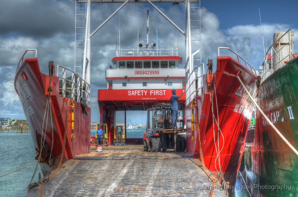 Cargo Boats at Potter's Cay - Nassau, The Bahamas by Jeremy Lavender Photography