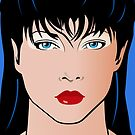Pop Art Illustration of a Girl Amber by Frank Schuster