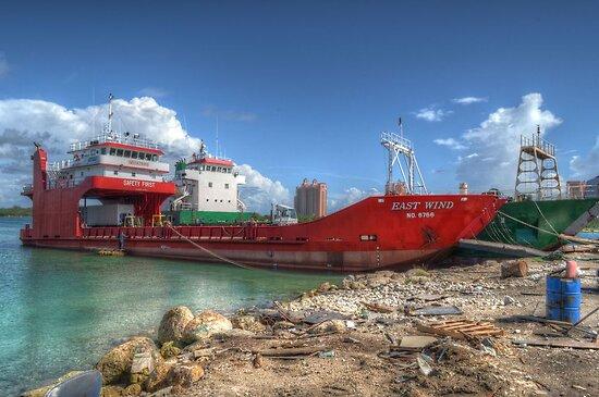 Cargo Boat at Potter's Cay - Nassau, The Bahamas by 242Digital