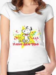 snoopy christmas Women's Fitted Scoop T-Shirt