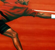 Roger Federer at Roland Garros painting Sticker