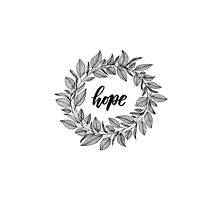 Hope Wreath Black by LYDesigns