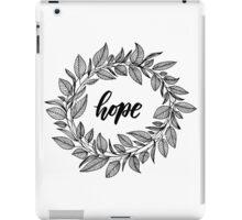 Hope Wreath Black iPad Case/Skin