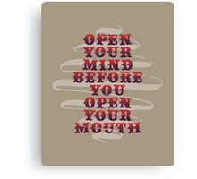 Open Your Mind Canvas Print