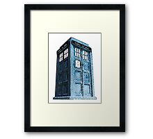 Comic TARDIS Framed Print