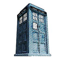 Comic TARDIS Photographic Print