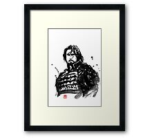 the last samurai Framed Print