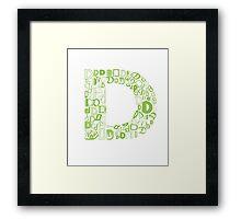Font Fashion D Framed Print