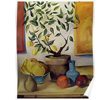 Pear and Apple Poster
