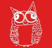 Owl number 2 - white  Kids Tee