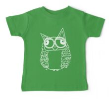 Owl number 2 - white  Baby Tee