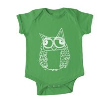Owl number 2 - white  One Piece - Short Sleeve