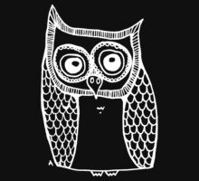 Owl number 10 - white by annieclayton