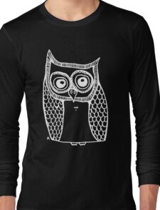 Owl number 10 - white Long Sleeve T-Shirt