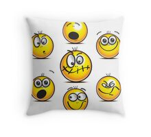 Feeling emotional? emojis say it all! Throw Pillow