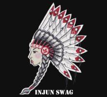 Injun Swag (White Lettering best on dark colored shirt) by jkaecustoms