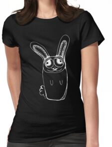 Rabbit - white Womens Fitted T-Shirt