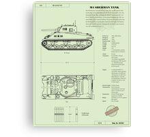 Sherman Tank Canvas Print