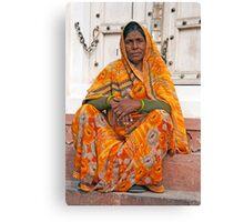 Fabulous Orange Sari Canvas Print