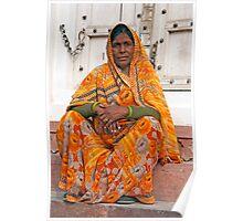 Fabulous Orange Sari Poster