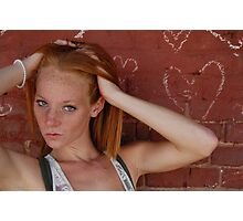 A red head and graffiti  Photographic Print