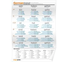 Learn German - Common German Verbs Poster
