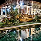 Bali Villa Pool Reflection by JohnKarmouche