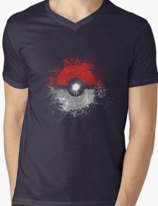 Poke'ball Mens V-Neck T-Shirt
