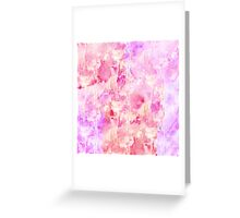 Girly Pink and Purple Painted Sparkly Watercolor Greeting Card