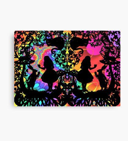 Alice has gone Psychedelic  Canvas Print